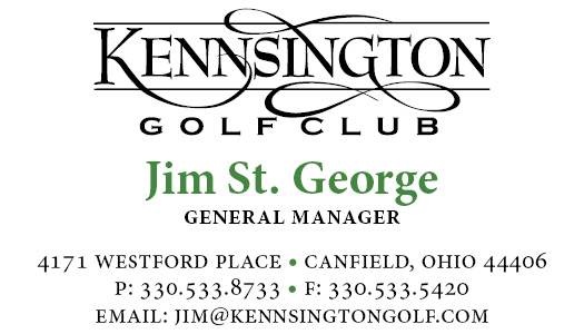 jim st george Kennsington Business Card